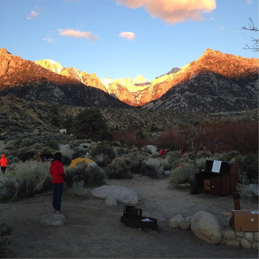 Mt Whitney – early morning on Summit Day - 15.5 miles from base camp